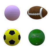 Various balls — Stock Photo