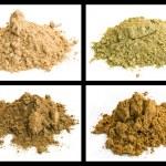 Cumin, galangal root, kummel, nutmeg — Stock Photo