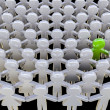 Alone in crowd — Stock Photo #34299867