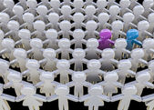 Alone in the crowd — Stock Photo