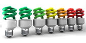 Low energy light bulbs — Stock Photo