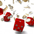 Stock Photo: Cash and dice