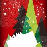 Modern Christmas Greetings Card — Stock Vector