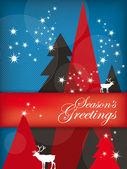 Holiday Illustration: Seasons Greetings — Stock Vector