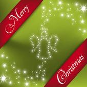 Merry Christmas Illustration: Angel in Stars — Stock Vector