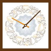 Ananlog Clock Vector Pattern — Stock Vector
