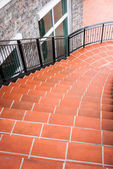 Escadas de pedra laranja — Foto Stock