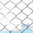Metal twist fence — Stock Photo