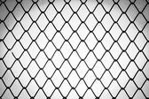 Metal twist fence — Stock Photo