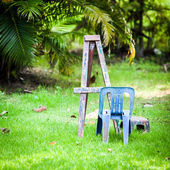 Empty easel — Foto Stock
