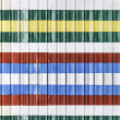 Colorful corrugated metal sheet — Stockfoto #34953535