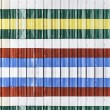 Stock Photo: Colorful corrugated metal sheet