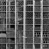 Metal shapes textures — Stock Photo