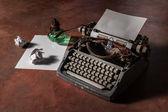 Velha máquina de escrever — Foto Stock