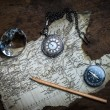 Old compass and vintage map — Stock Photo #40306887
