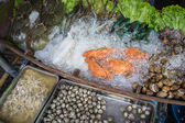 Färska skaldjur fotograferad i feskekörka — Stockfoto