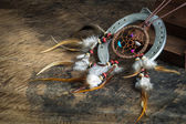 Leather dream catcher  — Stock Photo