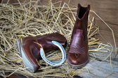 Still life cowboy boots — Stock Photo