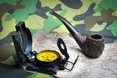 Militär kompass — Stockfoto
