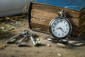 Still life pocket watch — Stock Photo
