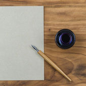 Παλιά ντεμοντέ μελάνι βουτιά στυλό — Φωτογραφία Αρχείου