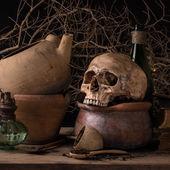 Still life black magic — Stock Photo