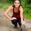 Stretching girl — Stock Photo #13853960