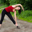 Stock Photo: Girl stretching