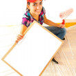 Painter with clipboard — Stock fotografie
