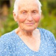 Stock Photo: Portrait of an elderly woman