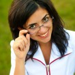 Beautiful smiling doctor outdoors — Stock Photo