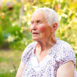 Talking elderly woman — Stock Photo