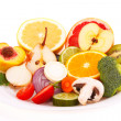 Stock Photo: Mixed fresh fruits and vegetables