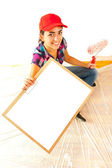Painter with clipboard — Stock Photo