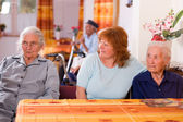 Senior in a nursing home — Stock Photo