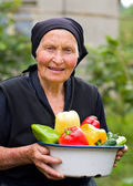 Hoar, old woman — Stock Photo