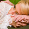 Consoling — Stock Photo