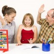 Aggression in family — Stock Photo