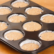 Raw cupcake dough — Stock Photo
