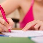 mani di scrittura — Foto Stock
