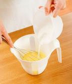 Mixing dough — Stock Photo