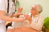 Medications for an old woman — Stock Photo