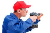 Handyman working — Stock Photo