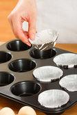 Příprava muffiny — Stock fotografie