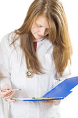 Inspecting medical chart — Stock Photo