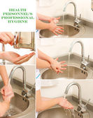 Professional Hand Washing — Stock Photo
