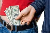Posuvné peníze — Stock fotografie
