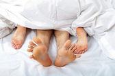 Couple having sex - woman on top — Stock Photo