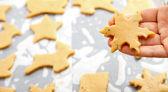 Snowflake shape Christmas cookie — Stock Photo