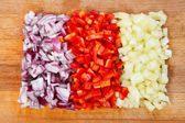 Onion and pepper — Stock Photo